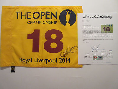 Rory Mcilroy Signed 2014 British Open Pin Flag Psa/dna Z05053 Royal Liverpool