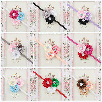 Girl Baby Headband Toddler Lace Bow Flower Hair Band Accessories Headwear