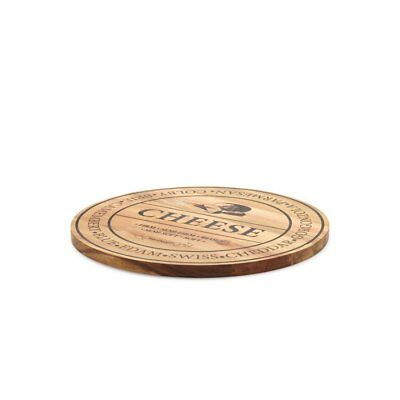 NEW Salt & Pepper Fromage Round Wooden Cheese Board 40cm (RRP $50)