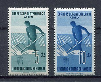 36312) GUATEMALA 1963 MNH** FAO Fighting agaist hunger 2v