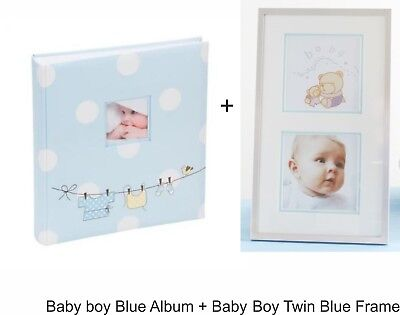 Large Baby Boy Blue Outfit Traditional Photo Album Hold 500 photos 6x4'' KB202UE