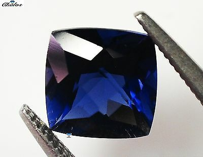 1x Iolith -  Cushion Schachbrett facettiert 7,0x7,0x4,9mm IF 1,40ct. (1170D)