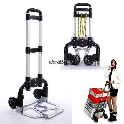 Heavy Duty Compact Folding Rust Proof Aluminum Dolly Cart Moving Hand Truck 2014