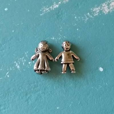 Little Boy / Girl Silver Charm. Floating / Living Memory Locket. Baby Child. New