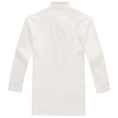 Unisex Kitchen Chef Long Sleeve Uniform Top Jacket/Coat Cooker Work Clothes - 6A