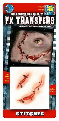 Tinsley Transfers Stitches FX Transfer Fake Wound Halloween