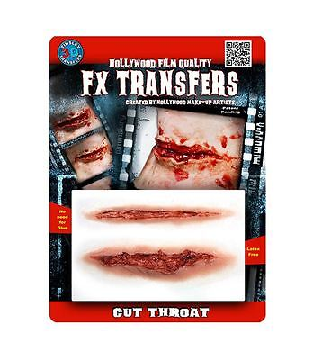 Tinsley Transfers Cut Throat FX Transfer Fake Wound