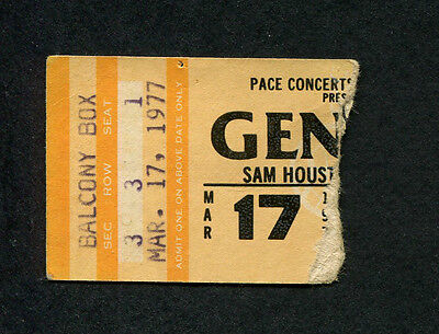 1977 Genesis concert ticket stub Houston TX Wind & Wuthering Tour Phil Collins