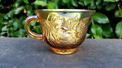 Harvest Grape Marigold Iridescent CARNIVAL Glass Cup