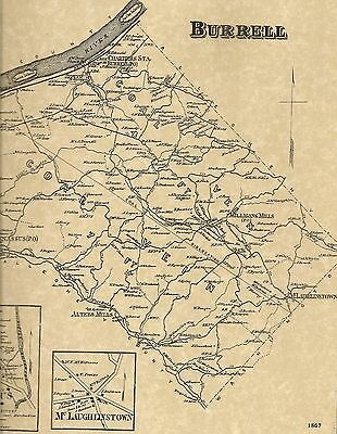 Burrell New Kensington Arnold  PA 1867 Map with Landowners Names Shown