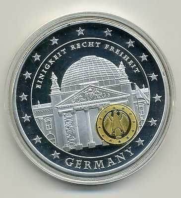 Farb Medaille Europe 10 Years Economic and Monetary Union Deutschland M_231