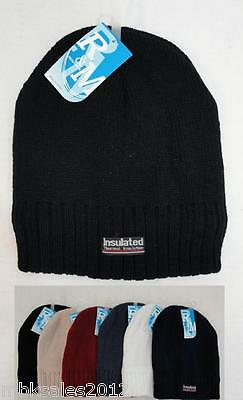 Wholesale Lot 96 Thermal Insulated Solid Color Winter Knit Beanie Hats
