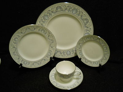 Wedgwood White Dolphins R4652 5 Piece Place Setting