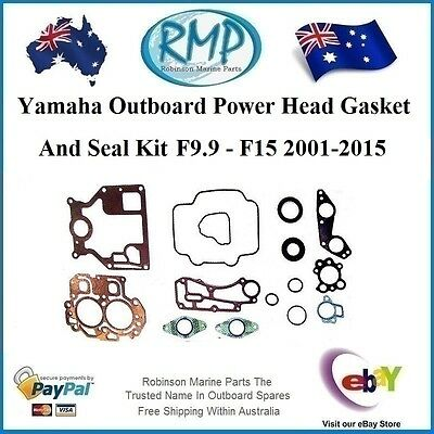A Brand New Power Head Gasket & Seal Kit Suits Yamaha F9.9 - F15 # 66M-W0001