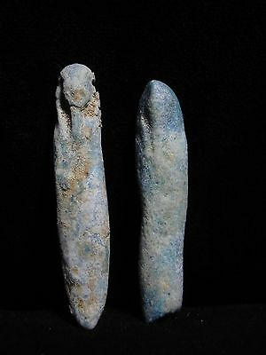 Zurqieh - 7- Ancient Egypt . Lot Of Two Faience Ushabtis ,  600 - 300 B.c