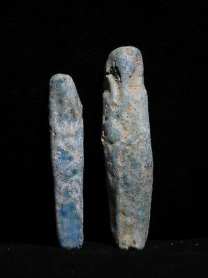 Zurqieh - 8- Ancient Egypt . Lot Of Two Faience Ushabtis ,  600 - 300 B.c