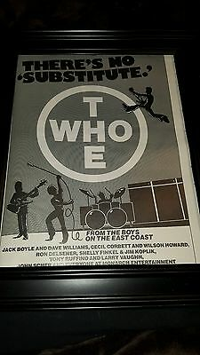 The Who East Coast Promoters Rare Original Promo Poster Ad Framed!
