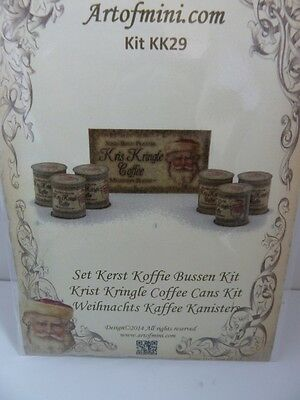 Dolls House Miniature 1:12 Scale Artofmini Shop Coffee Cans Kit (KK29)