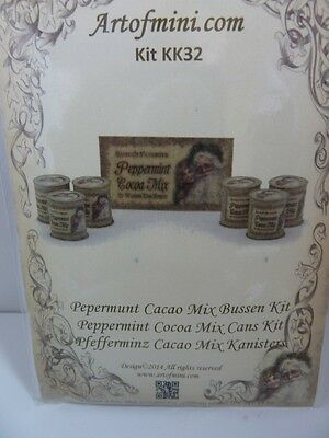 Dolls House Miniature 1:12 Scale Artofmini Shop Mix Cans Kit (KK32)