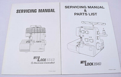 Janome Overlocker Machine Service Manual Hard Copy My Lock 204D