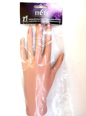 Practice Nail Art Trainer Training Hand Acrylic Gel False Tip Tool  UK SELLER