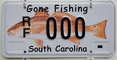 "Ultra Rare South Carolina ""Gone Fishing"" Sample License Plate"
