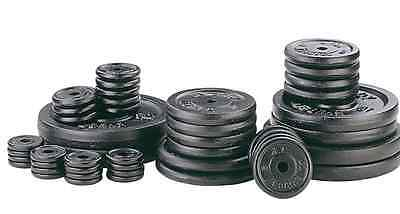 """Weight Plates 1"""" Standard cast iron discs home gym lifting weights 5kg 10kg 15kg"""