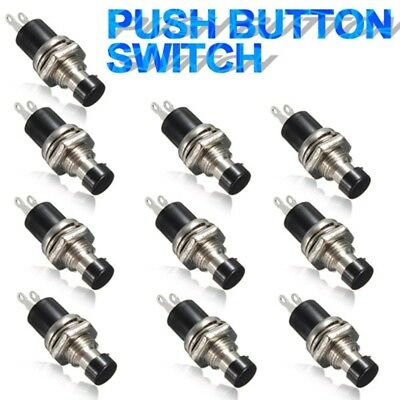 10pcs 2 Pin SPST OFF-ON Car Boat Momentary Push Button Switch 0.5A DC 50V Red