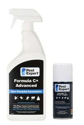 Cluster Fly Killer Spray Formula C (1L) and Pest Expert Fly Killer Fogger Bomb