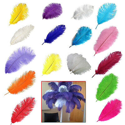 510pcs Large Natural Ostrich Feathers Costume Wedding Party Decorations 35-40cm