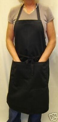 Bib Front Bar Aprons Black Poly / Cotton in stock