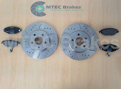 Mondeo ST220 Drilled Grooved Front Brake Discs & Pads