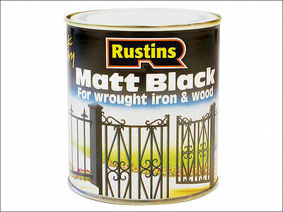 Rustins Matt Black Paint Quick Drying 1 Litre