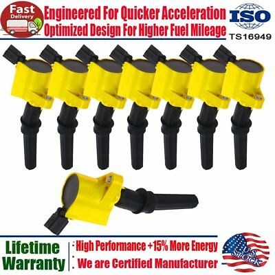 8 pack DG508 Ignition Coils For Ford F150 F250 F350 Lincoln Mercury 4.6L 5.4L V8