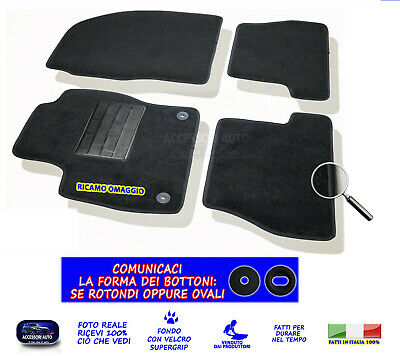 Tappetini Moquette Auto per Ford Focus Station W. 2011>2014 con Fix Originali