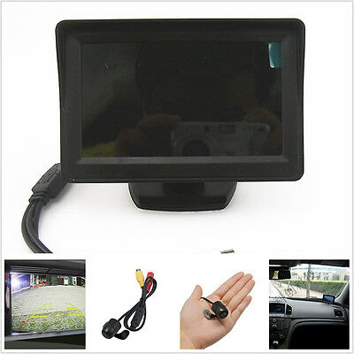 "12V 4.3"" Car HD Rearview Reversing Parking Camera Kits Colour Display For Holden"