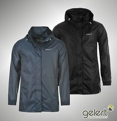 Mens Branded Gelert Full Zip Waterproof Packaway Jacket Size S M L XL XXL XXXL