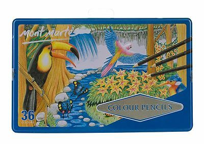 Mont Marte Colour Pencils 36 Colours in Metal Tin