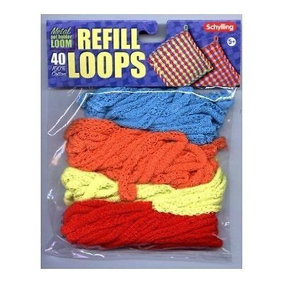 Loop Refills for Metal Potholder Loom (NLR) by Schylling FREE SHIPPING BRAND NEW