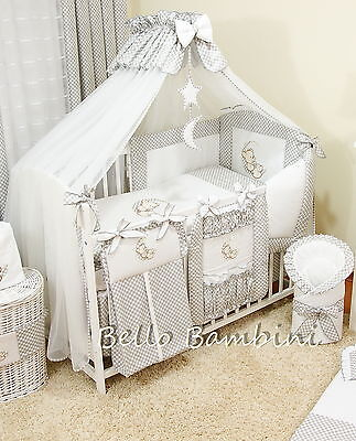 LUXURY CANOPY DRAPE & Holder - 480 x 175cm for BABY Cot/Cot Bed