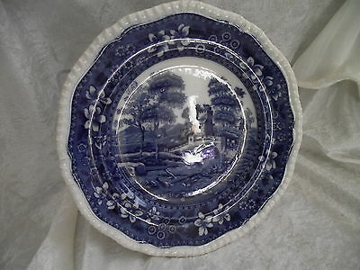 "Vintage Copeland ~ Spode's Tower ~ 9"" plate ~ Blue Oval Mark ~ Blue & White"