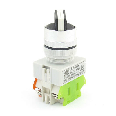 Panel Mounting Locking Action 2 Position NO+NC DPST Rotary Switch 10A 660V