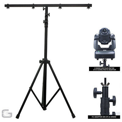 ADJ LTS-6 LTS6 T-Bar DJ Lighting Equipment Tripod Stand 2.7m 25kg Load 8 Mounts