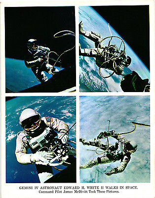 A Vintage NASA Gemini IV Astronaut Edward H. White II Walks in Space Pictures