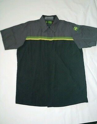 Vintage Mechanic Mens John Deere green work Shirt Official Dealership XXXL 3X