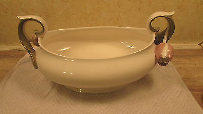 Gorgeous Vintage GOEBEL Tulip Handled Oval Tray GOE 17 Discontinued Mint Cond