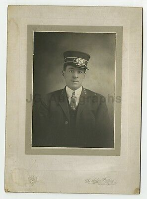 Vintage Silver Print Photograph of a Train Conductor - Schenectady, NY