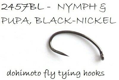 50 dohimoto 2457BL #12 fly tying hooks (1120 barbless sharp strong 2457)