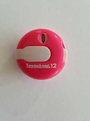 JL Golf EZ Count Stroke Counter scorer wrist upto 12 shots score Pink / white