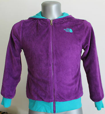 The North Face Reverse Jacket Hooded Purple/Green Size 14/16 Years.